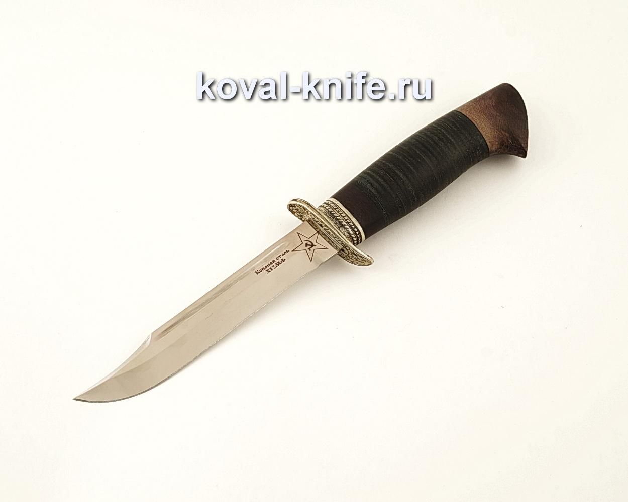 Нож Штрафбат – реплика ножа НР40 из кованой стали Х12МФ с рукоятью из кожи  A623