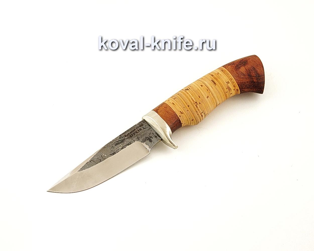 Нож Норвег из кованой стали 110Х18 с рукоятью из бересты  A631