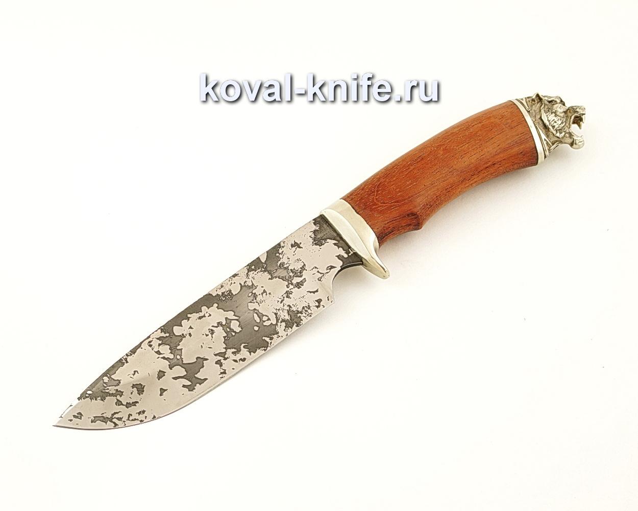 Нож Барс из кованой стали 95Х18 с рукоятью из бубинги  A632
