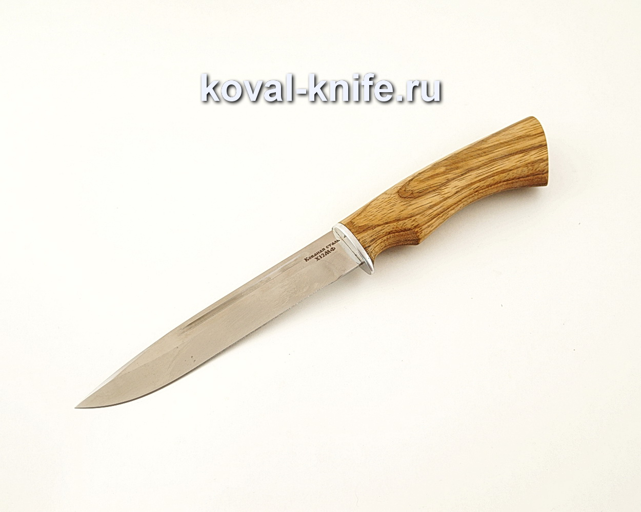 Нож Вишня из кованой стали Х12МФ с рукоятью из зебрано  A636
