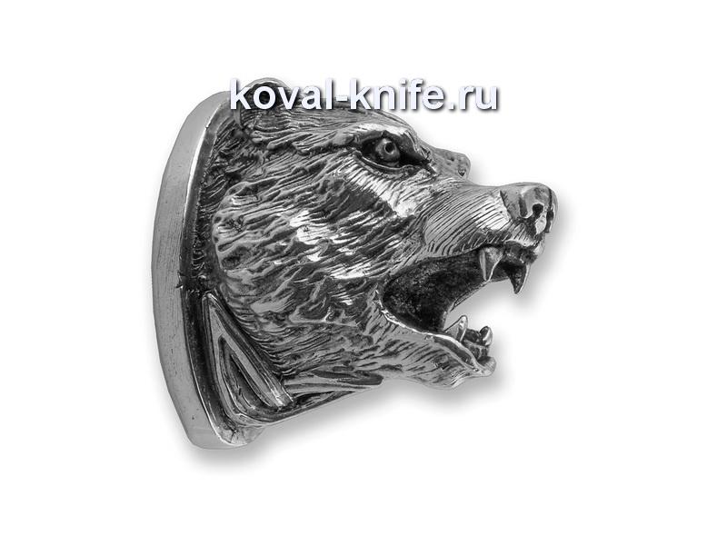 Литье для ножа 153 Голова МЕДВЕДЯ  Высота примыкания со стороны рукояти 37мм
