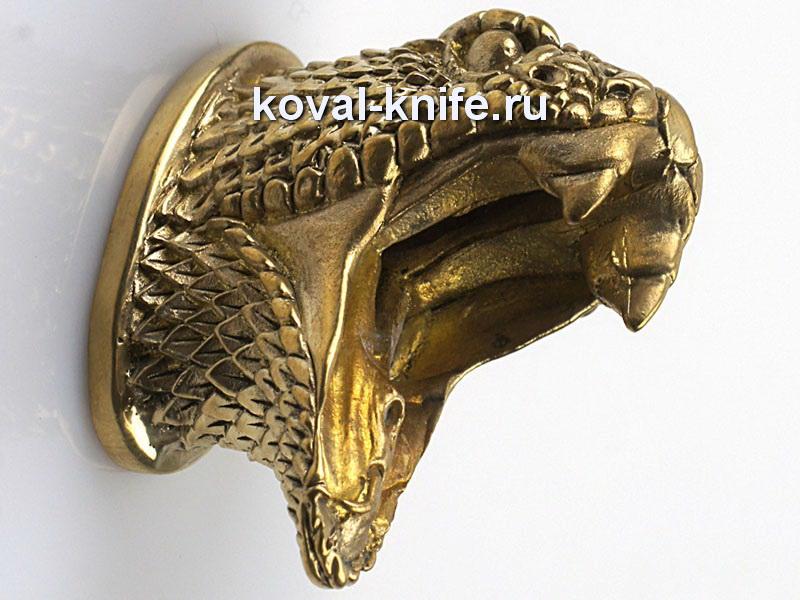 Литье для ножа 467 гарда Кобра.Высота овала со стороны рукояти 30мм