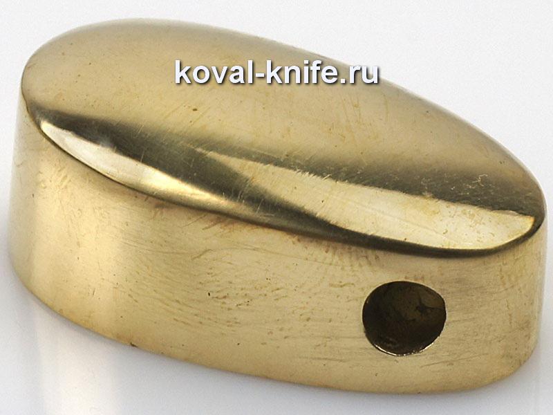 Литье для ножа 241 Пятка гладкая с отверстием. Высота примыкания со стороны рукояти 37,5 мм