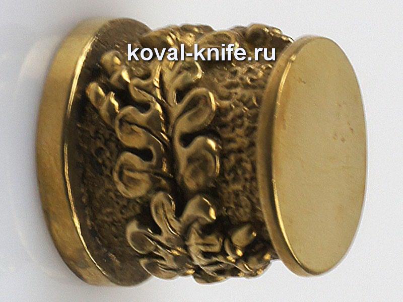 Литье для ножа 305 пятка для шампура круглая. диаметр примыкания со стороны шампура 17мм