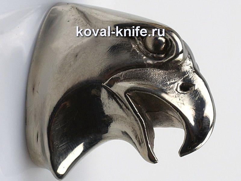 Литье для ножа 134  Орел гладкий. Высота примыкания со стороны рукояти 35 мм
