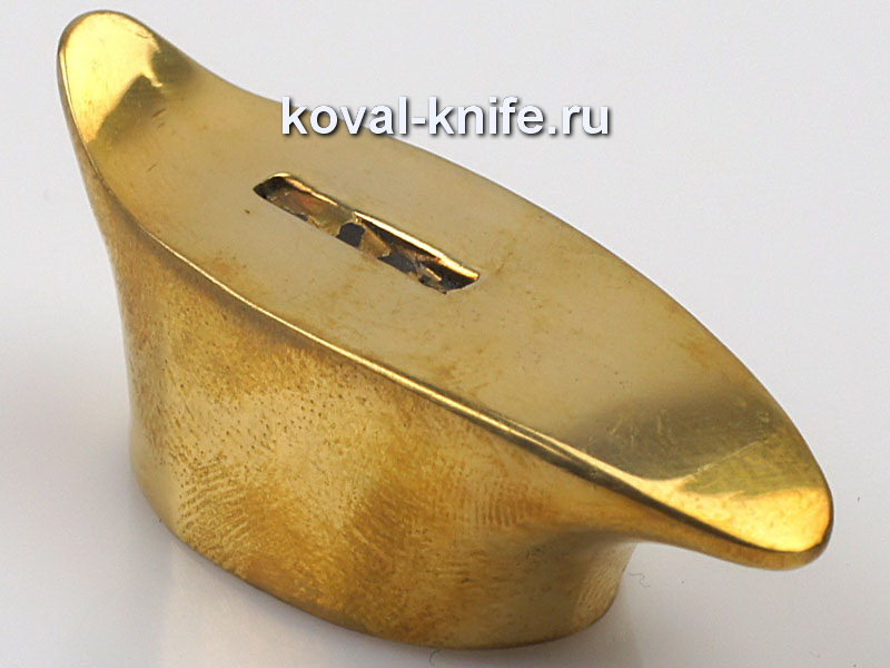 Литье для ножа 445 гарда обоюдная гладкая.Высота овала со стороны рукояти 25,5мм