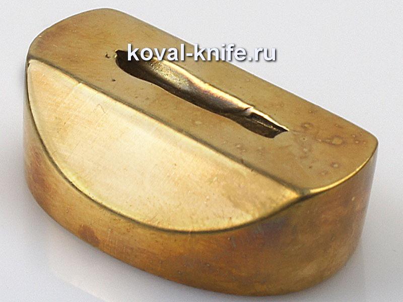 Литье для ножа 636 притин.Высота овала со стороны рукояти 30мм