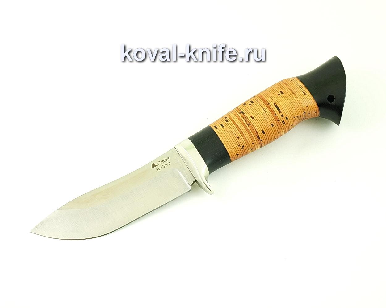Нож из порошковой стали М390 Кабан (рукоять береста и граб) A510