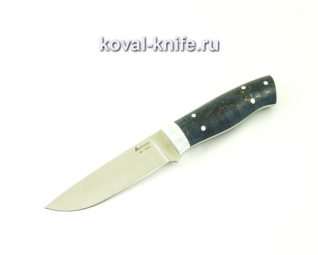 Нож цельнометаллический из порошковой стали М390 Белка (рукоять стабилизированная карельская береза) A512
