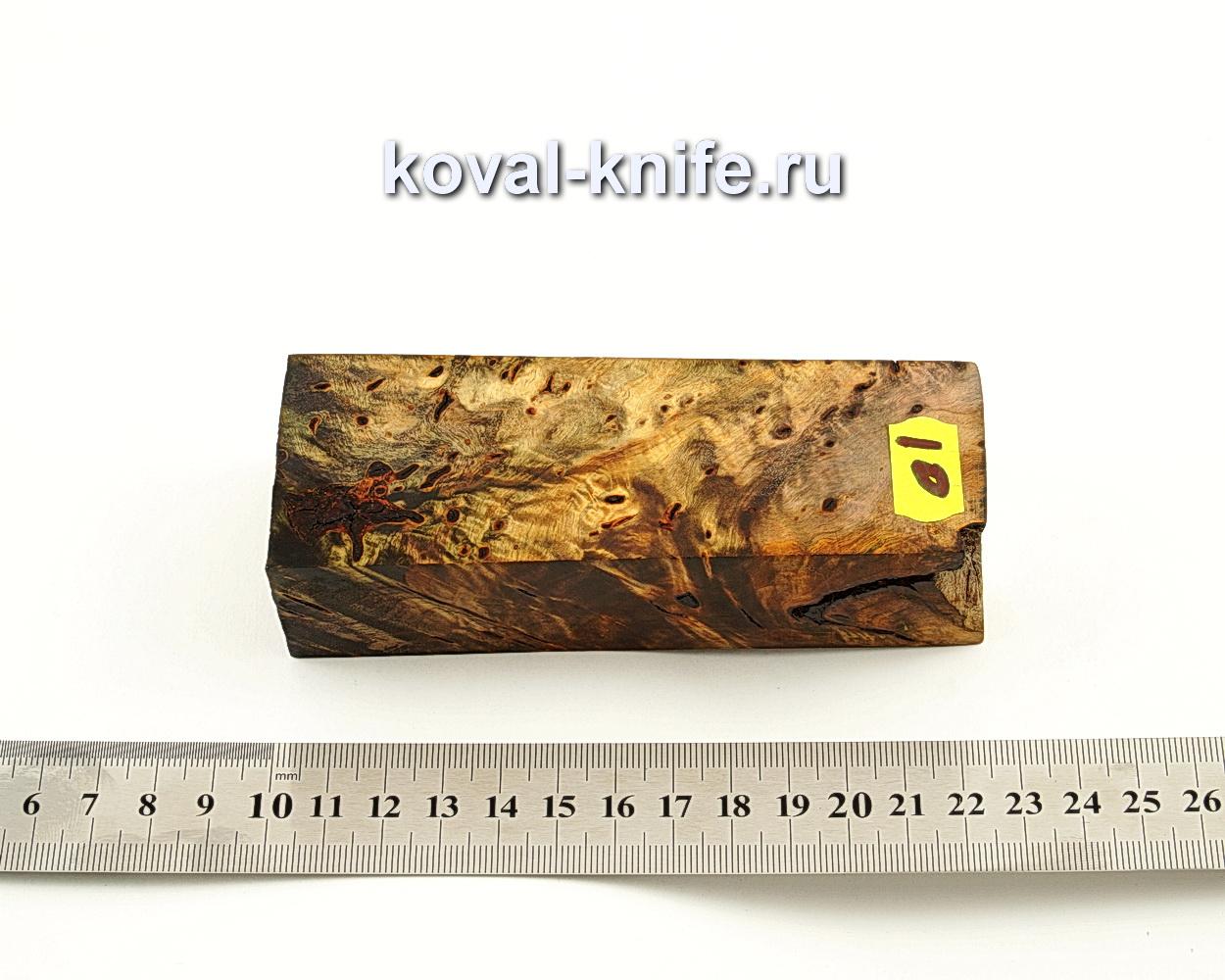 Брусок стабилизированной древесины для ножа N10