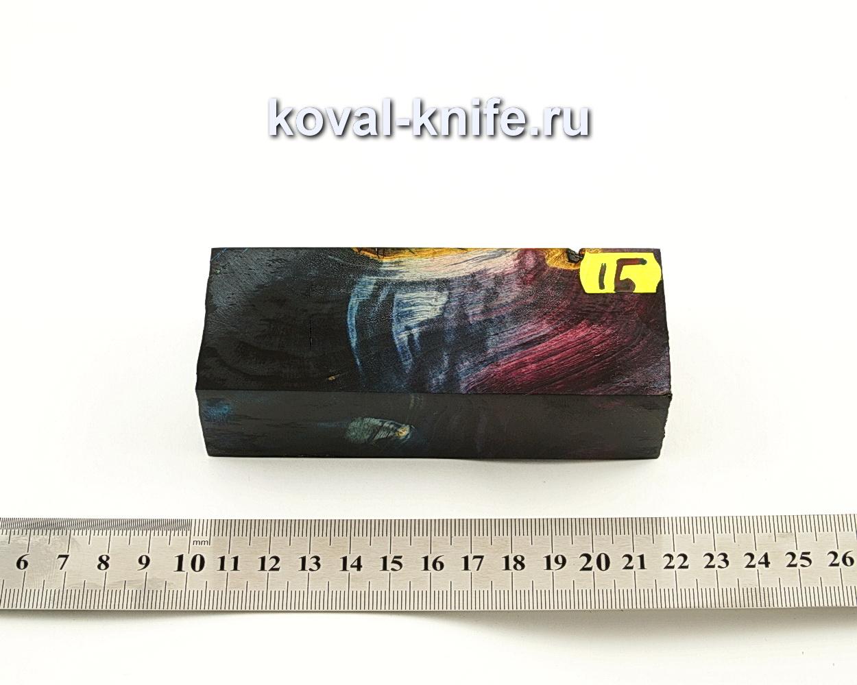 Брусок стабилизированной древесины для ножа N15
