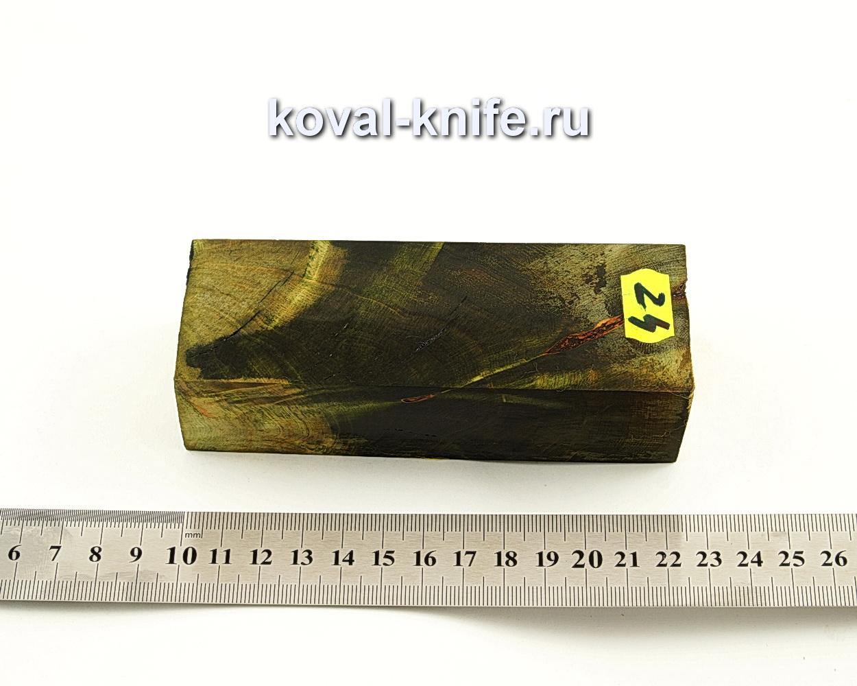 Брусок стабилизированной древесины для ножа N24