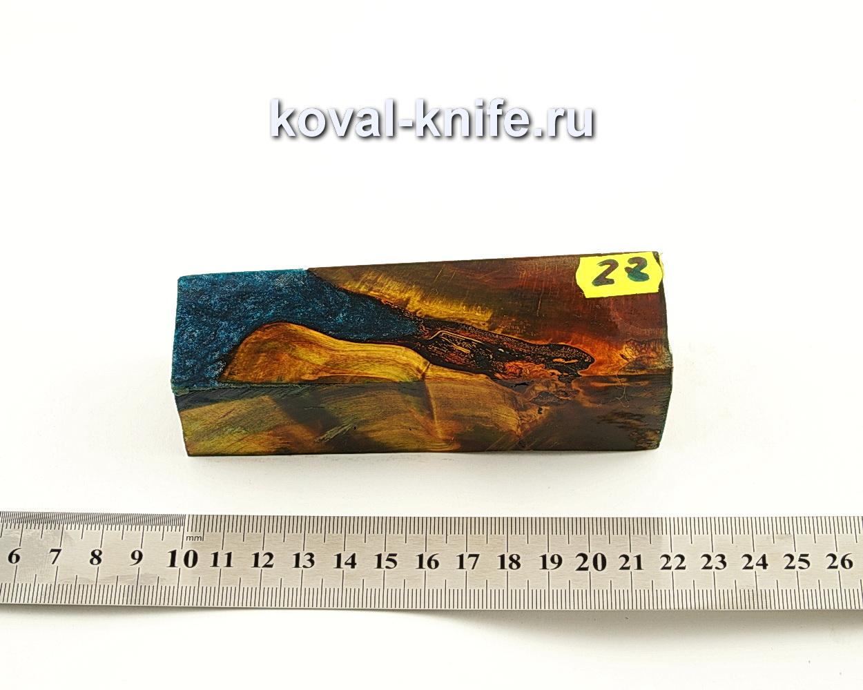 Брусок стабилизированной древесины для ножа N28