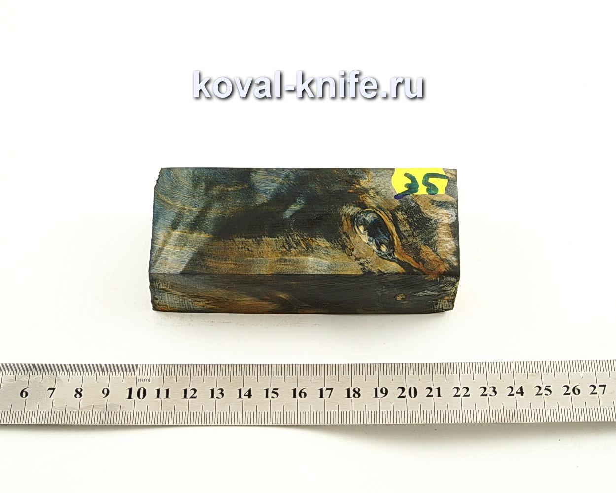 Брусок стабилизированной древесины для ножа N35