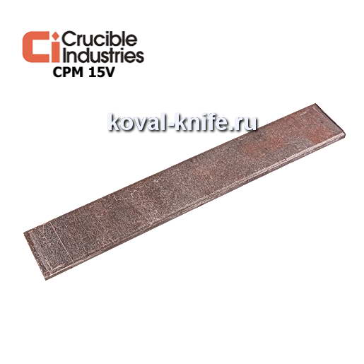 Заготовка для ножа из порошковой стали CPM 15V размеры: 250х30х4мм.
