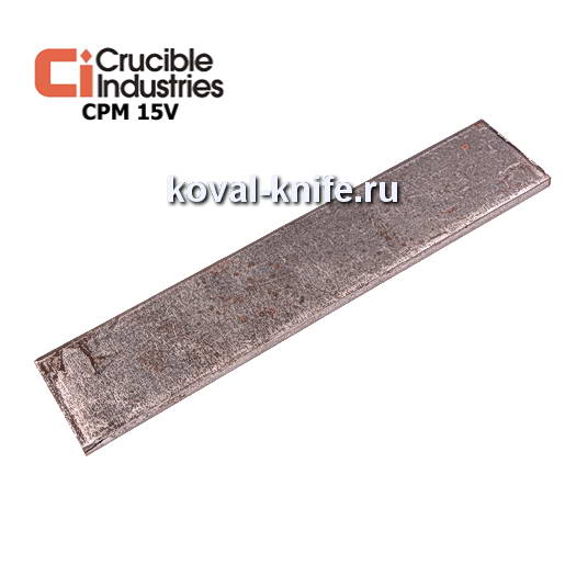 Заготовка для ножа из порошковой стали CPM 15V размеры: 250х25х4мм.