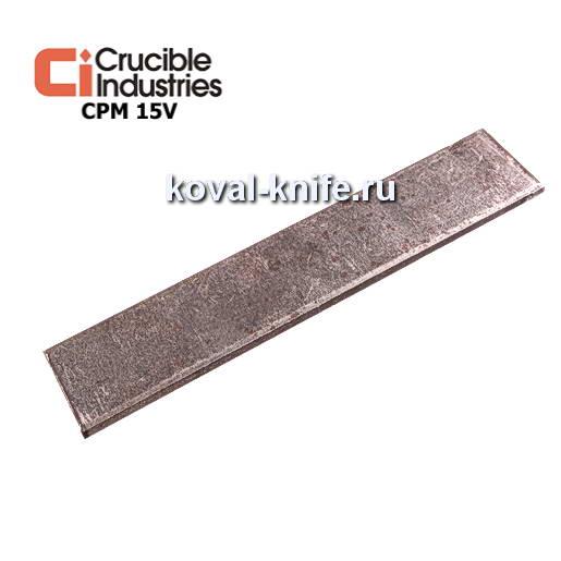 Заготовка для ножа из порошковой стали CPM 15V размеры: 300х25х4мм.