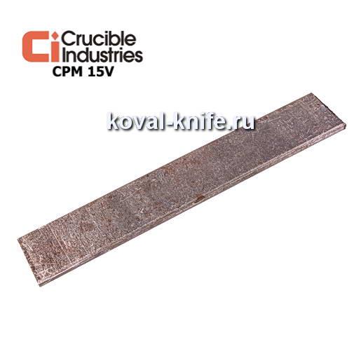 Заготовка для ножа из порошковой стали CPM 15V размеры: 250х35х4мм.