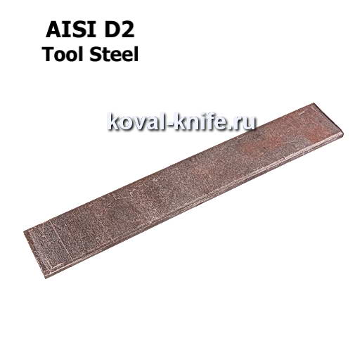 Заготовка для ножа из листовой стали D2 размеры: 200х30х2.5мм.