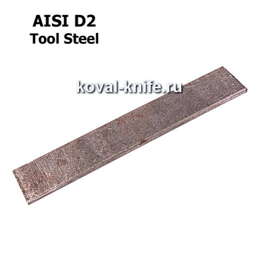 Заготовка для ножа из листовой стали D2 размеры: 250х35х2.5мм.
