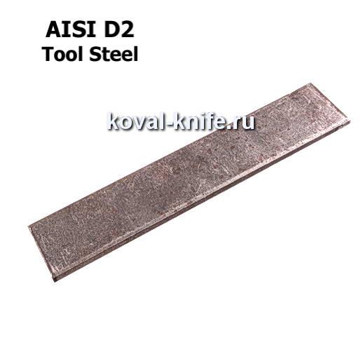 Заготовка для ножа из листовой стали D2 размеры: 300х40х2.5мм.