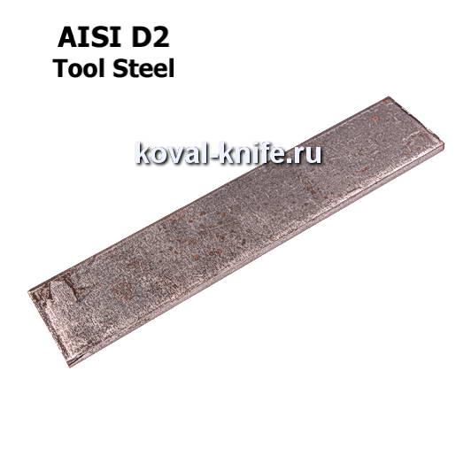Заготовка для ножа из листовой стали D2 размеры: 350х25х4мм.