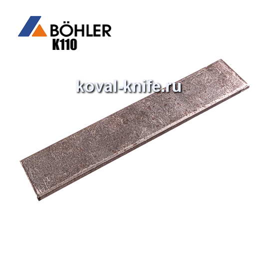 Заготовка для ножа из листовой стали Bohler K110 размеры: 300х30х4мм.