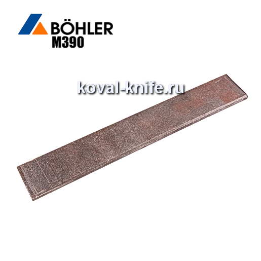 Заготовка для ножа из порошковой стали Bohler M390 размеры: 300х35х3.6мм.