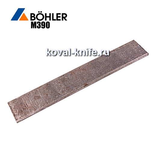 Заготовка для ножа из порошковой стали Bohler M390 размеры: 300х30х3.6мм.