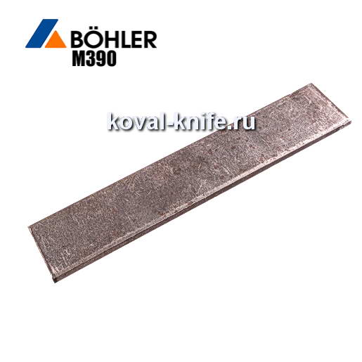 Заготовка для ножа из порошковой стали Bohler M390 размеры: 300х40х3.6мм.