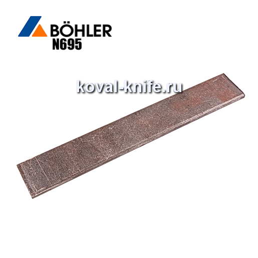 Заготовка для ножа из листовой стали Bohler N695 размеры: 250х30х3.5-4мм.