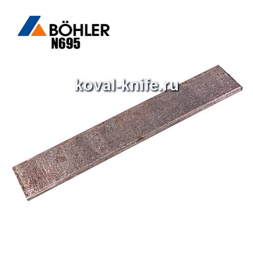 Заготовка для ножа из листовой стали Bohler N695 размеры: 300х30х3.5-4мм.