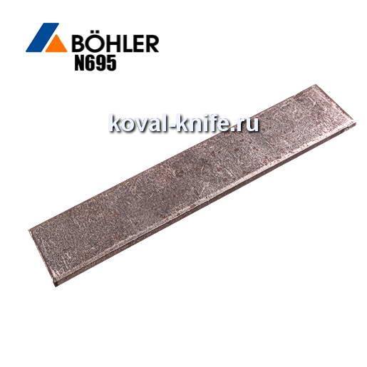 Заготовка для ножа из листовой стали Bohler N695 размеры: 200х35х3.5-4мм.