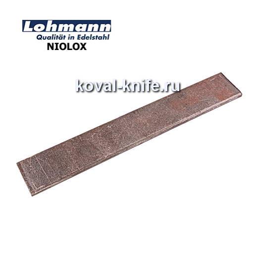 Заготовка для ножа из листовой стали NIOLOX размеры: 200х25х4мм.