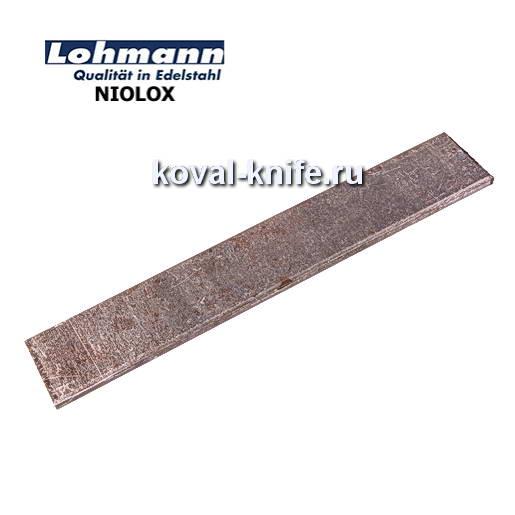 Заготовка для ножа из листовой стали NIOLOX размеры: 200х40х4мм.