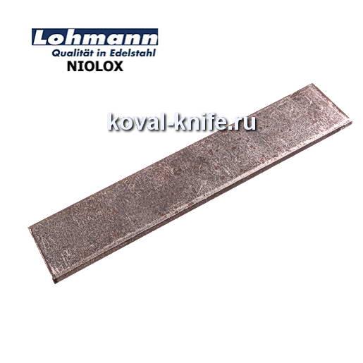 Заготовка для ножа из листовой стали NIOLOX размеры: 200х35х4мм.