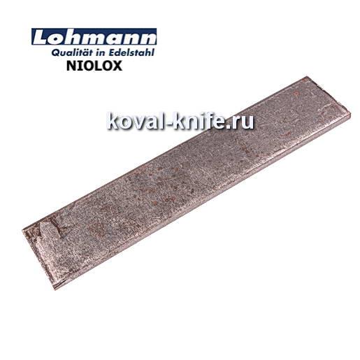 Заготовка для ножа из листовой стали NIOLOX размеры: 250х40х4мм.