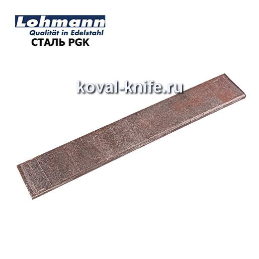 Заготовка для ножа из листовой стали PGK размеры: 300х35х5мм.