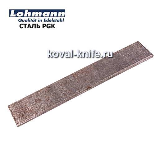 Заготовка для ножа из листовой стали PGK размеры: 250х25х5мм.