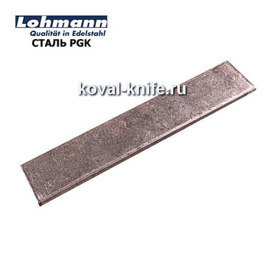 Заготовка для ножа из листовой стали PGK размеры: 300х25х5мм.