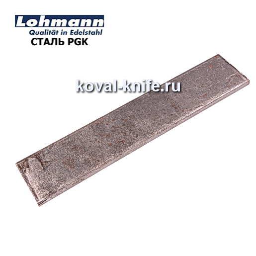 Заготовка для ножа из листовой стали PGK размеры: 250х40х5мм.