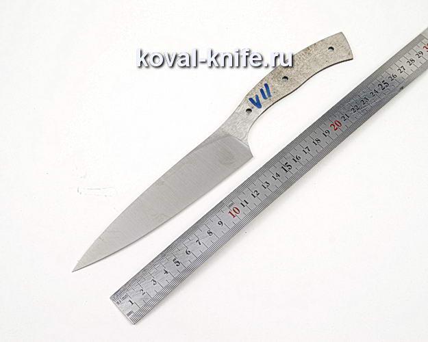 Клинок кухонного ножа из кованой стали 110х18 МШД V11