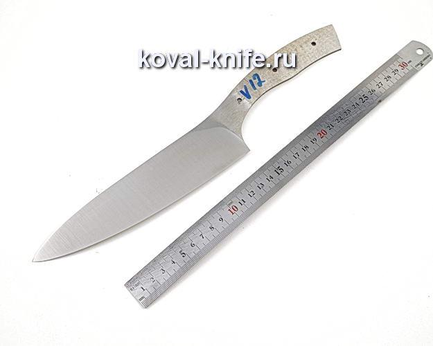 Клинок кухонного ножа из кованой стали 110х18 МШД V12