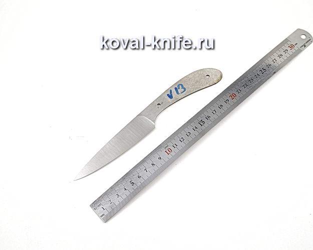 Клинок кухонного ножа из кованой стали 110х18 МШД V13
