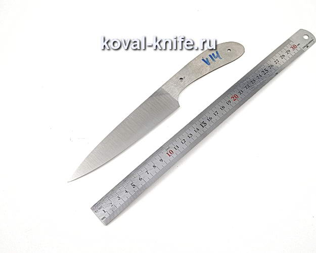 Клинок кухонного ножа из кованой стали 110х18 МШД V14