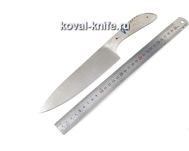 Клинок кухонного ножа из кованой стали 110х18 МШД V15