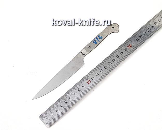 Клинок кухонного ножа из кованой стали 110х18 МШД V16