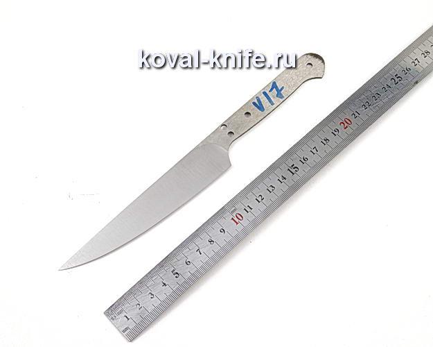 Клинок кухонного ножа из кованой стали 110х18 МШД V17