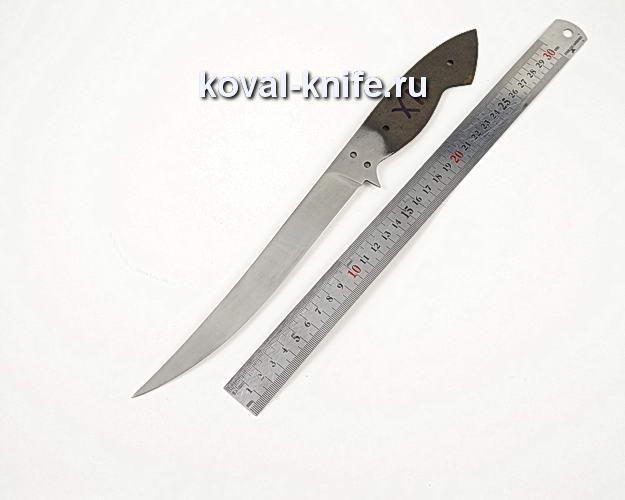 Клинок филейного ножа из кованой из стали 95х18 X10
