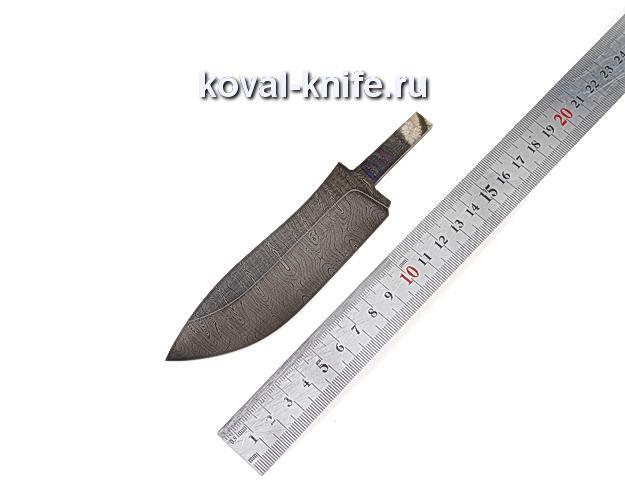 Клинок для охотничьего ножа из дамасской стали d1